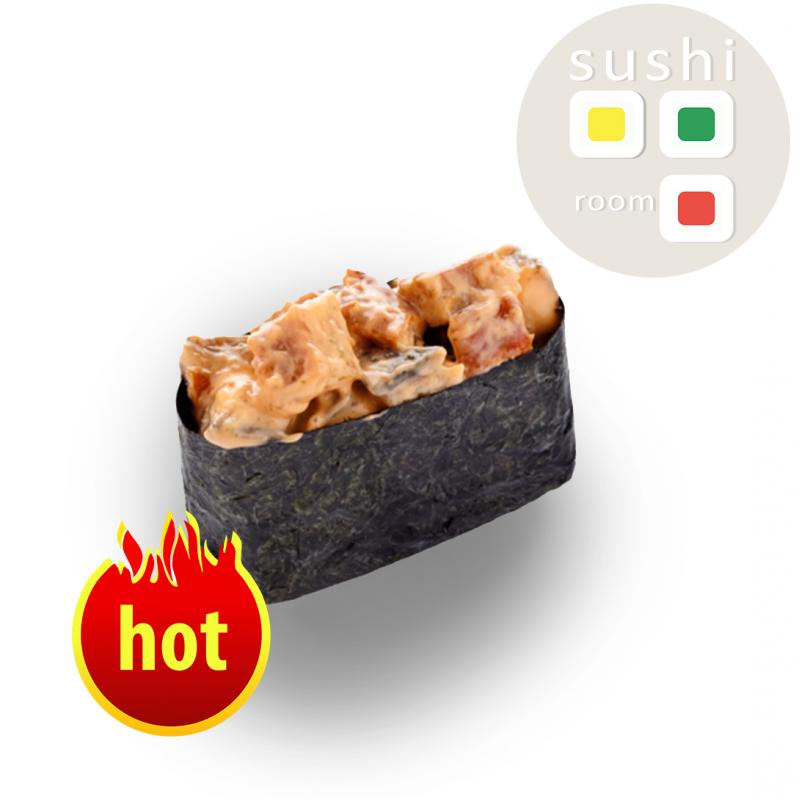 Острые суши с курицей